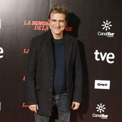 Alberto San Juan en el estreno de 'La ignorancia de la sangre' en Madrid