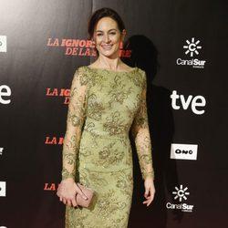 Cuca Escribano en el estreno de 'La ignorancia de la sangre' en Madrid