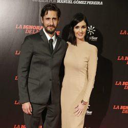 Juan Diego Botto y Paz Vega en el estreno de 'La ignorancia de la sangre' en Madrid