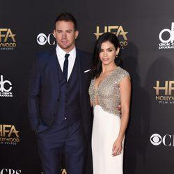 Channing Tatum y Jenna Dewan en los Hollywood Film Awards 2014