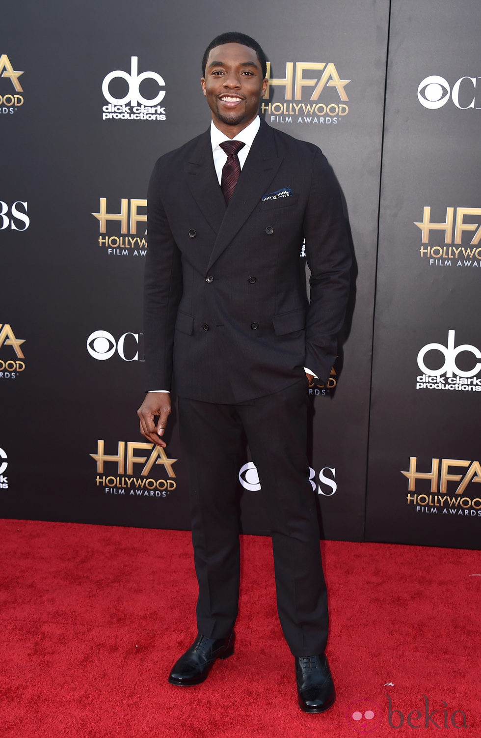 Chadwick Boseman en los Hollywood Film Awards 2014