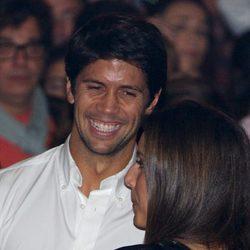 Ana Boyer y Fernando Verdasco en un concierto de Enrique Iglesias en Madrid