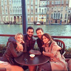 Xabi Alonso, Nagore Aranburu, Álvaro Arbeloa y Carlota Ruíz en Venecia