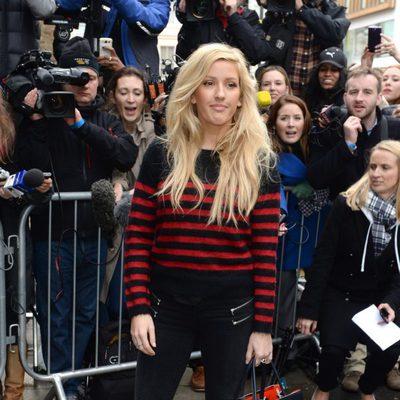Ellie Goulding a su llegada al estudio para grabar la canción en apoyo al ébola