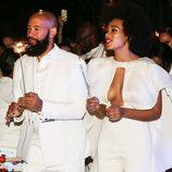 Solange Knowles y Alan Ferguson el día de su boda en Nueva Orleans