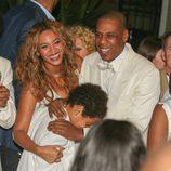 Beyoncé y Jay Z el día de la boda de Solange Knowles con Alan Ferguson