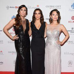 Maria Bravo, Eva Longoria y Alina Peralta en la Global Gift Gala 2014 de Londres
