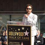 Matthew McConaughey agradeciendo su estrella en el Paseo de la Fama de Hollywood