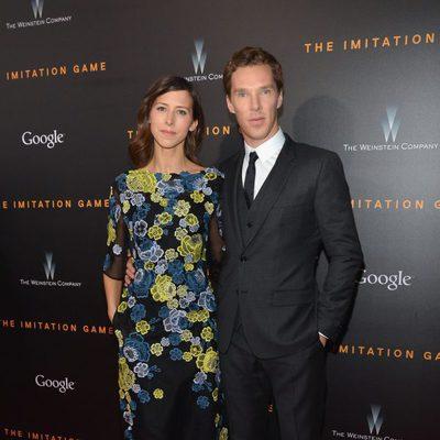 Benedict Cumberbatch y su prometida, Sophie Hunter, acuden al estreno de 'The Imitation Game' en Nueva York