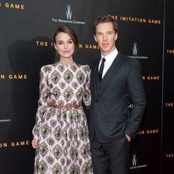 Benedict Cumberbatch y Keira Knightley acuden al estreno de 'The Imitation Game' en Nueva York