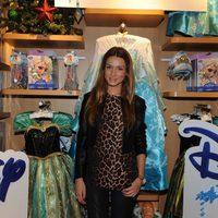 Raquel Jiménez en la inauguración de una tienda infantil en Barcelona