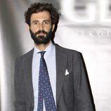 Enrique Solís Tello en la inauguración de una agencia de modelos