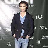 Curi Gallardo en la inauguración de una agencia de modelos