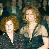 La Duquesa de Alba con Sophia Loren