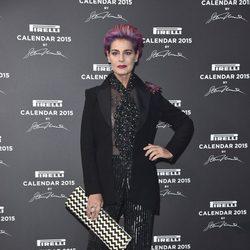 Antonia Dell'Atte en la presentación del Calendario Pirelli 2015