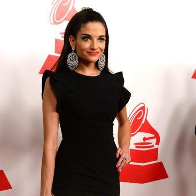 Natalia Jiménez en la entrega del premio Persona del Año 2014