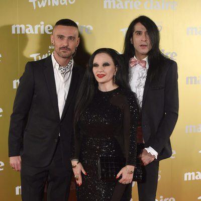 Alaska, Mario Vaquerizo y David Delfín en la entrega de los Premios Prix de la Moda 2014