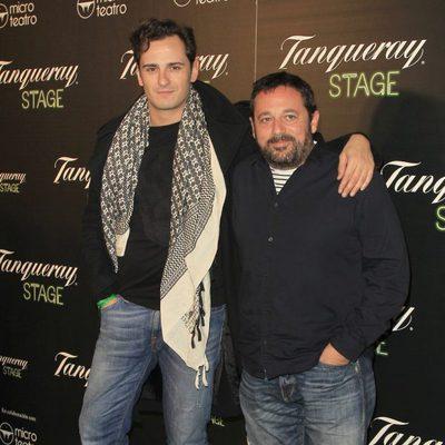 Asier Etxeandía y Pepón Nieto en el estreno de la obra de teatro 'Hanky Panky'