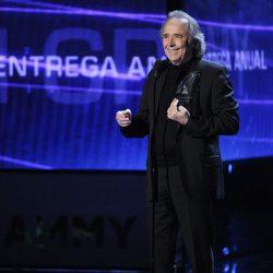 Joan Manuel Serrat en la entrega de los Premios Grammy Latino 2014