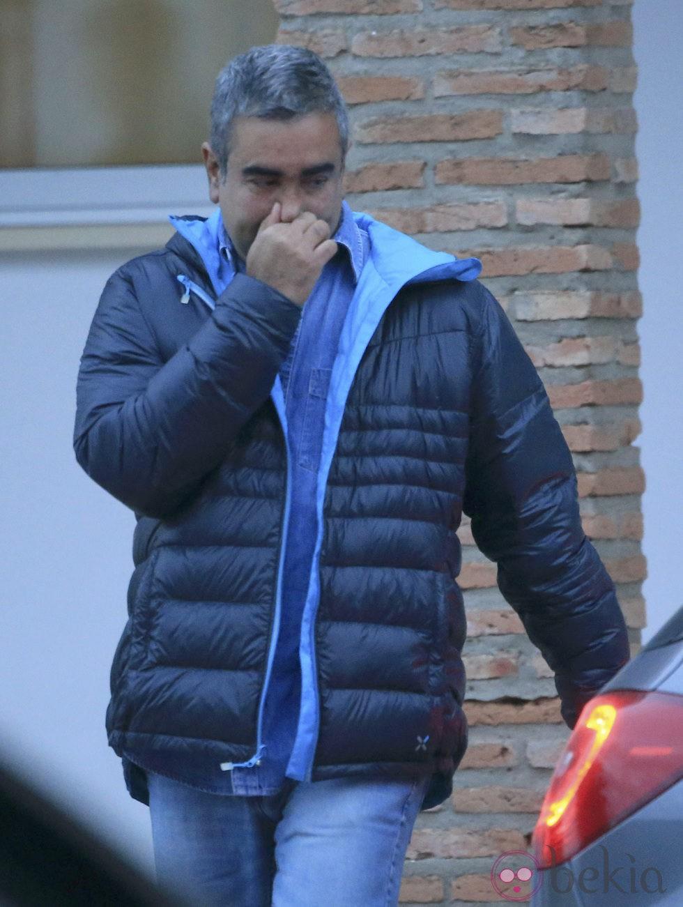 Agustín Pantoja tras la entrada en la cárcel de Alcalá de Guadaíra de Isabel Pantoja