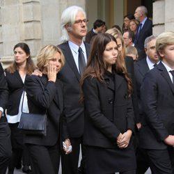 Jacobo Fitz-James Stuart con su hermana Eugenia Martínez de irujo y sus sobrinos Cayetana y Luis de camino al funeral de la Duquesa de Alba