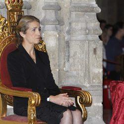 La Infanta Elena en el funeral de la Duquesa de Alba