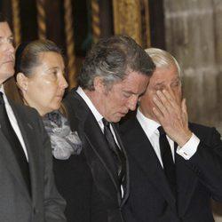 Pedro y Cristina de Borbón-Dos Sicilias, Alfonso Díez y el Duque de Húescar en el funeral de la Duquesa de Alba