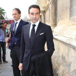 Enrique Ponce en el funeral de la Duquesa de Alba