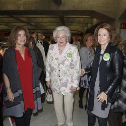 Ana Botella, la Infanta Pilar y Pina Sánchez Errázuriz en la inauguración del Rastrillo Nuevo Futuro