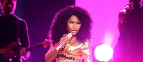 Nicki Minaj durante su actuación en los American Music Awards 2014