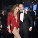 Jennifer Lopez y Pitbull en los American Music Awards 2014