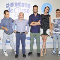 Begoña Maestre, El Langui, Jesús Bonilla, Santi Millán, Dafne Fernández y Adrián Rodríguez de 'El Chiringuito de Pepe'
