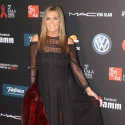Susana Uribarri en una gala benéfica contra el Sida en Barcelona