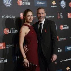 Alex Corretja y Martina Klein en una gala benéfica contra el Sida en Barcelona