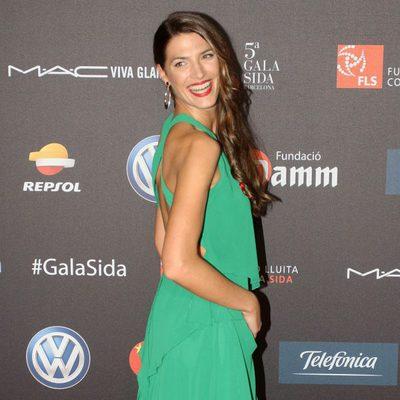 Laura Sánchez en una gala benéfica contra el Sida en Barcelona