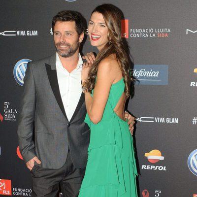 Laura Sánchez y David Ascanio en una gala benéfica contra el Sida en Barcelona