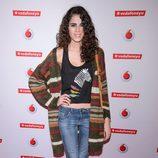 Sandra Martin en un concierto de Leiva en Madrid