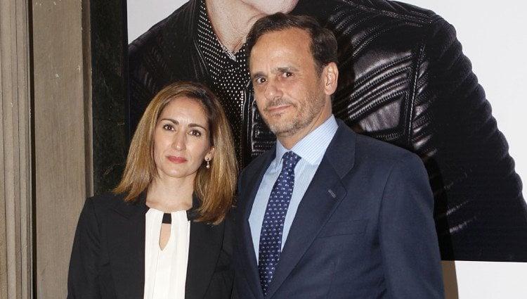 Alejandra Martos y Álvaro Arenzana en el concierto de Raphael en Madrid