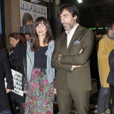 Nuria Roca y Juan del Val en el concierto de Raphael en Madrid