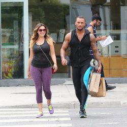 Kelly Brook y David McIntosh de compras por Los Angeles