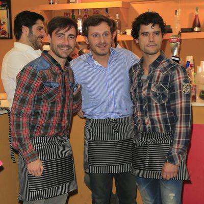 Pablo Nieto, Juan Peña y Miguel Abellán en el Rastrillo 2014