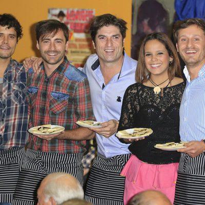 Miguel Abellán, Pablo Nieto, Gloria Camila y Juan Peña en el Rastrillo 2014