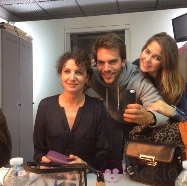 Marta Belaustegui, Marc Clotet y Natalia Sánchez antes de su última función de 'Amantes'