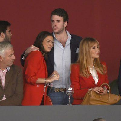 Álex Lequio con su novia y Ana Obregón en la Madrid Horse Week 2014