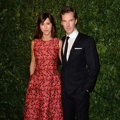 Benedict Cumberbatch y Sophie Hunter en los Evening Standard Theatre Awards 2014