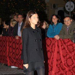 Cayetana Rivera en la misa en memoria de la Duquesa de Alba en Sevilla