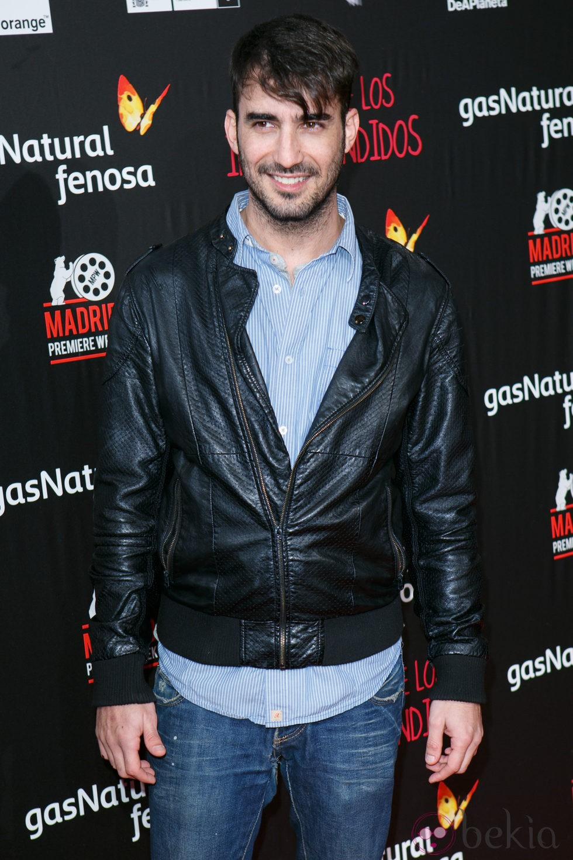 Israel Rodriguez en el estreno de 'El Club de los Incomprendidos'