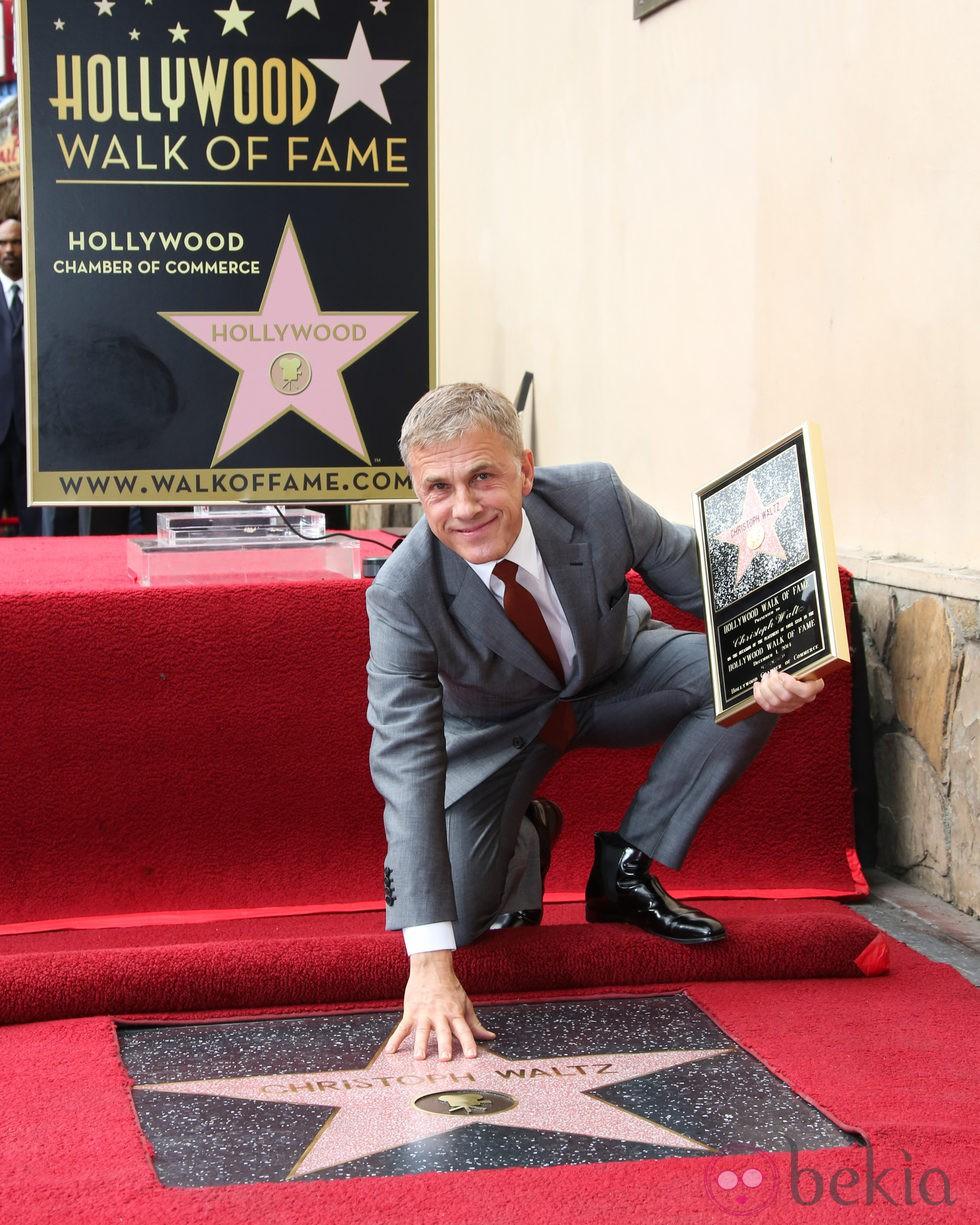 Christoph Waltz recibe su estrella en el Paseo de la Fama de Hollywood