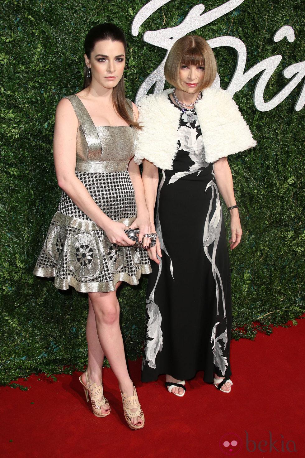 Anna Wintour y su hija Bee Shaffer acuden a los 'British Fashion Awards 2014' en Londres