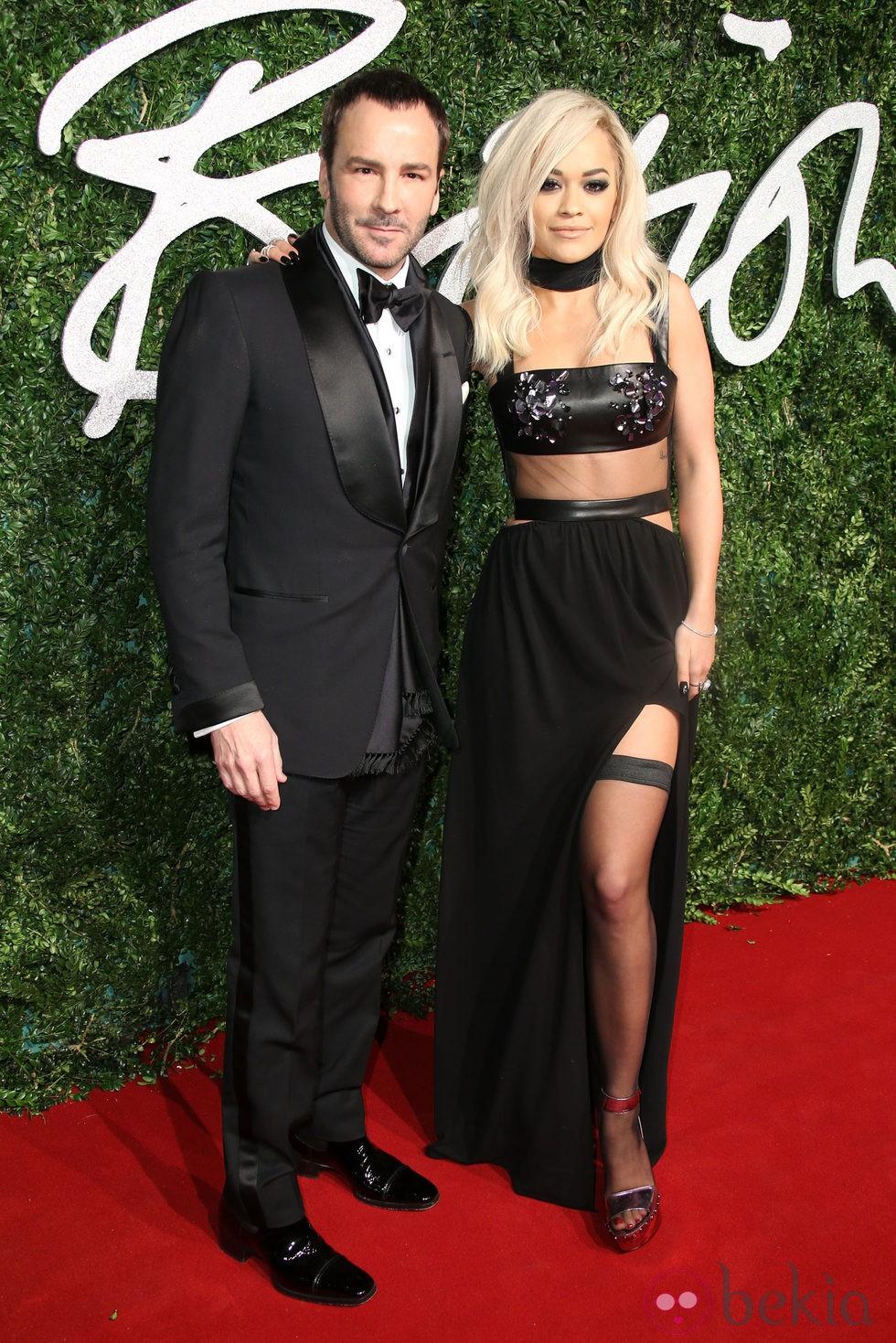 Tom Ford y Rita Ora acuden a los 'British Fashion Awards 2014' en Londres